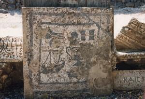 Mosaico paleocristiano en Cafarnaún © Joaquim Pisa