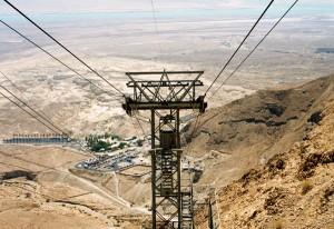 El desierto desde el teleférico a Massada © Joaquim Pisa