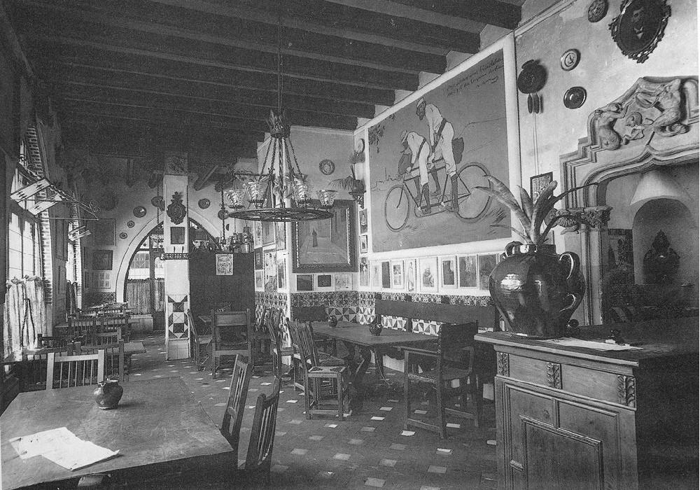 interior Els Quatre Gats 1899